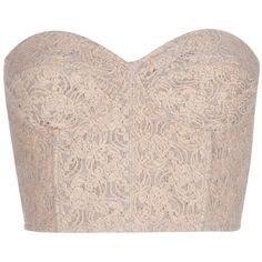 AU JOUR LE JOUR Vintage corselette top found on Polyvore