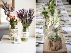 Декор вазы для сервировки стола своими руками