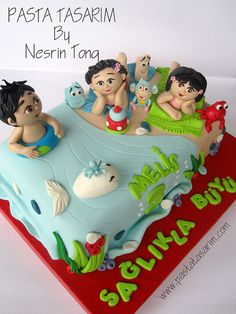 DORA AND DIEGO IN THE BEACH - MELIS BIRTHDAY CAKE    by CAKE BY NESRİN TONG, via Flickr