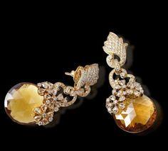 Quartz & Diamond Earrings