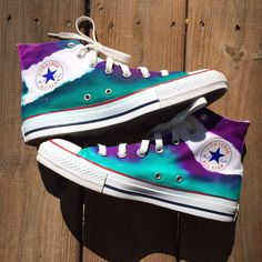Galaxy Fissure Tie Dye Converse Shoes by IntellexualDesign on Etsy