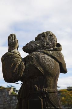 Praying Statue, Alnwick, Northumberland, England