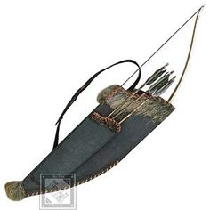 Full archery kit from ByTheSword for $258.00. Horse Bow, Case & Quiver includes 4th & 5th century bow case, sheath, scabbard. So it's way off time period-wise & style for me, but dang it the colors are right.