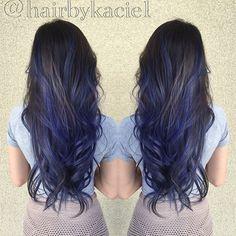 balayage hair blue - Pesquisa Google