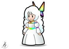 """This time folk, one of the many """"what Lady Limpani looks like"""" seen on DeviantArt, in Paper Mario style. And this Timpani-idea is coming from Timpi , en. Mario Bros., Mario And Luigi, Paper Mario Sticker Star, King Boo, Super Mario Art, Anime Kawaii, Character Aesthetic, Game Art, Bowser"""