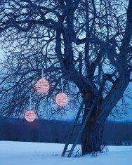 Glowing Topiary-Ball Lanterns