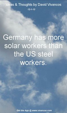 The US needs to increase solar, wind, hydro & geothermal technologies!