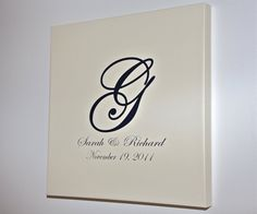 Wedding Guest Book Alternative Stretched Canvas Wedding Guest Signature Wall Hanging 16x16 via Etsy