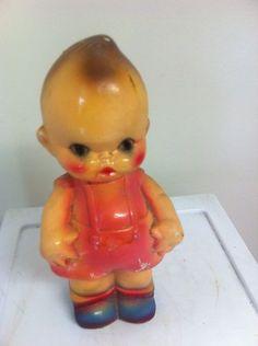 Vtg 1930s Carnival Prize Chalkware Kewpie Doll Statue