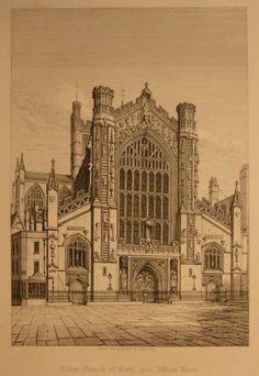 Print - Abbey Church, Bath - Coney