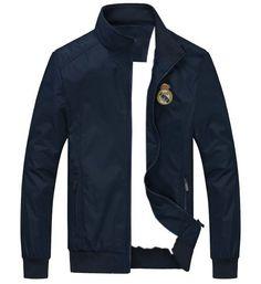Jaket bola windcheater Real Madrid