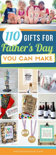 Best DIY Fathers Day Gift Ideas from kids | Easy crafts, free printables, meaningful cards, fun food and more unique projects for Dad or Grandpa that your kids can make! Perfect presents from daughter or son. #fathersday #giftsfordad #fathersdaygift #diy #giftidea