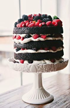 Tap Naked chocolate fruits layered cake