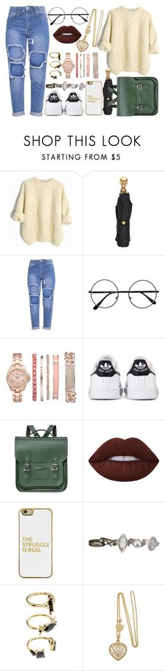 """Bored and out of ideas"" by still-into-malik ❤ liked on Polyvore featuring Alexander McQueen, Vivani, adidas, The Cambridge Satchel Company, Lime Crime, BaubleBar, maurices and Noir Jewelry"