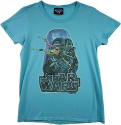 Juniors Star Wars shirt features an image of Darth Vader overseeing a battle between TIE Fighters and X-Wing Fighters X Wing Fighter, Tie Fighter, Star Wars Tee Shirts, Junk Food Tees, Junior Shirts, Vintage Tees, Vintage Inspired, Frosting, Battle