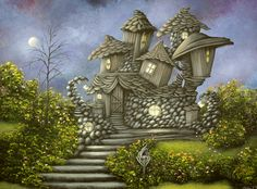 House Designed With Her In Mind 2010 painting By Philippe Fernandez Design, Fantasy, Surreal Art, Fantasy Art, Fine Art America, Painting, Whimsical Art, Art, Fairytale Art