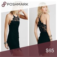 Free People She's Got It Slip Beautiful Bodycon dress, can be worn without a bra or with a sticky bra! In mint condition, worn once. A great LBD! Free People Dresses Mini