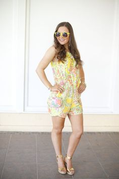 Lilly Pulitzer-Target-Summer-Bright-Summer Fashion-Romper-Outfit Inspiration-Outfit Ideas