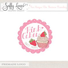 Pink Cakes Premade Premium Business Logo Design 146 by saffyloves, £15.00