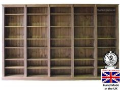 Pine Bookcase Bookcases Wood Shelving Units Hand Wax Solid Heartland Colours Libraries Wooden Wall Shelves