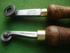 2 EARLY OLD COBBLERS/LEATHERWORKERS/ SADDLE ECT TOOLS (03/11/2012)