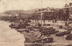 Old Postcard beach and parade looking west dover kent 1916 | eBay