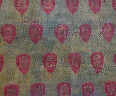 Fragmento del manto de Alfonso VIII (hacia 1155-1214). Detalle. Lampazo, fibras…