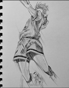 Anime Drawings Sketches, Cool Sketches, Anime Sketch, Drawing Cartoon Characters, Cartoon Drawings, Reference Drawing, Learn To Draw Anime, Volleyball Anime, Attack On Titan Levi