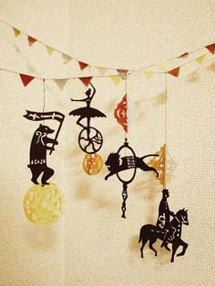 tegamiya -english-: 14. Daydream of Circus -message card with mobile -