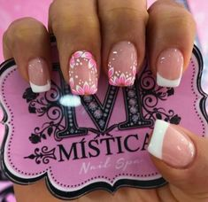 Nail Spa, Manicure And Pedicure, Nail Decals, Flower Nails, French Nails, Nail Trends, Short Nails, Nail Arts, Spring Nails
