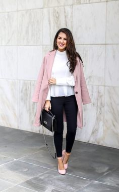 Styling a Pink Coat
