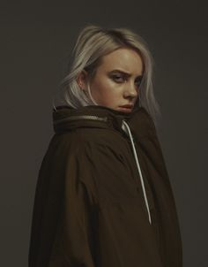 The singer and songwriter Billie Eilish is making catchy pop tracks with a really dark edge. Billie Eilish, Woman Crush, Shawn Mendes, My Girl, Celebs, Teen Celebrities, My Love, Pretty, Beauty