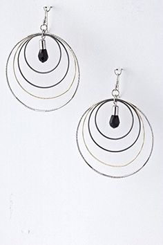 TRENDY FASHION JEWELRY LAYERED HOOP EARRINGS BY FASHION DESTINATION * Want additional info? Click on the image. Note:It is Affiliate Link to Amazon.