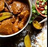 The ultimate Cape Malay chicken curry with spicy garam masala and coconut cream sauce, topped with roasted bananas - a true South African classic South African Recipes, Indian Food Recipes, Ethnic Recipes, Roasted Banana, Healthy Family Meals, Banana Recipes, Garam Masala, Asian, Curry Recipes
