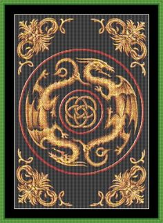 Dragon Knot Cross Stitch. Pretty sure Katie world love this.