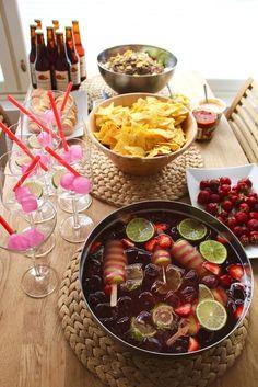 #Rekorderligkesä ja Twister-booli // Annib Diy Party Decorations, Dessert Recipes, Desserts, Acai Bowl, Party Time, Cooking Recipes, Snacks, Drinks, Breakfast