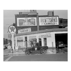 Garage and filling station in Benton Harbor, Michigan. Circa 1940.