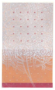 Emitting white /  18x11cm copperplate print (etching, engraving) with chine collé   HAYASHI Takahiko 林孝彦 2015