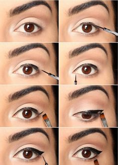 How to do winged eyeliner #howtodowingedliner #wingedlinerhacks