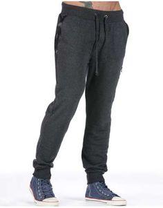 ΑΝΔΡΙΚΑ ΡΟΥΧΑ :: Φόρμες :: Φόρμα Leatherish Pockets Dark Grey - OEM Dark Grey, Sweatpants, Fashion, Moda, Fashion Styles, Fashion Illustrations