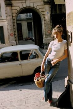 Jane Birkin in Blue Jeans - This Is What Street Style Looked Like in the '70s - Photos