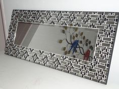 Decor, Creative Decor, Mirror Art, Decorated Flower Pots, Glass Mosaic Mirror, Mirror Designs, Living Room Mirrors, Ceramic Tile Crafts, Glass Mosaic Art