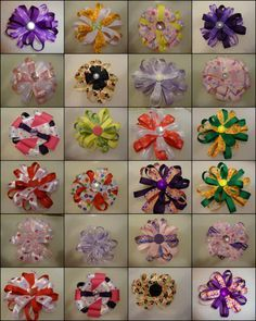 flower Hair Ribbons