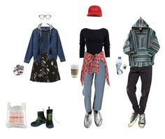"""""""this weekend"""" by iamdeadpoetry ❤ liked on Polyvore featuring Topshop, Donna Karan, Converse, R13 and Dr. Martens"""