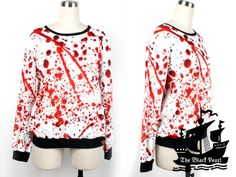 11.70 euro incl shipping Hoodie 2013 Fashion 3D Galaxy BLOOD SPLATTER BIG Pullover Hoody Sweatshirt Digital Printing Plus Size Sweater For Women S117 350-in Hoodies ...