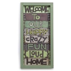 welcome to our.....home