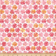 Riley Blake Fancy Free Flannel Pinwheels Pink from @fabricdotcom  Designed by Lori Whitlock for Riley Blake, this single-napped (brushed on face side only) cotton flannel is perfect for quilting, apparel and home decor accents.  Colors include white, red, orange, yellow and shades of pink.