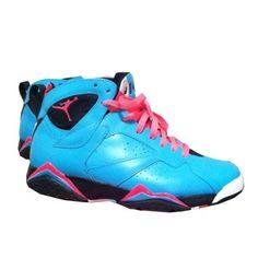Air Jordan 7 South Beach Blue Black Pink Need these!!