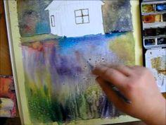 ▶ Watercolor tutorial/ Landscape - YouTube
