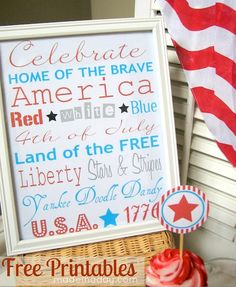 Free fourth of July printables!